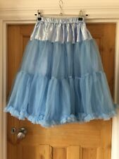 Fluffy Petticoat Underskirt For Wedding Dress Bride Bridesmaid Pastel Blue