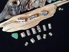 Dreadlock Beads **BUMPER MIX PACK** 14x Silver Dread Beads 4.5-6mm Hole Size UK