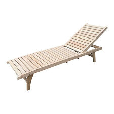Wooden Chaise Lounge Outdoor/Indoor Patio Lawn Foldable Portable Furniture