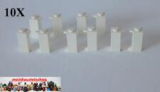 10X Lego 3581 Scharnier, Türangel, Pfosten, Halter, 1X1X2, Weiß, White