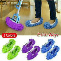 #1 pair Microfiber Duster Mop Slippers Floor Home Room Lazy Cleaner Shoes Covers