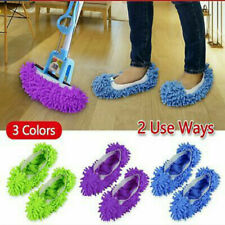 1pair Microfiber Duster Mop Slippers Floor Home Room Lazy Cleaner Shoes Covers