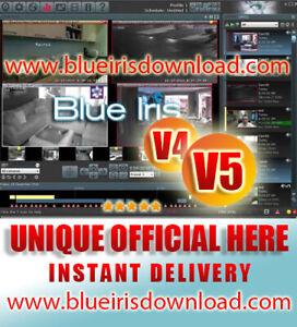 Blue Iris Pro v5.x (Latest) Video Camera Security Software - Full License Life