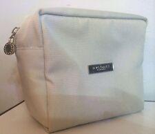 "Bvlgari Parfums Cosmetic Bag/ Makeup Travel Bag/ Pouch Grey 6.75""x5.5""x3.5"" NWOT"