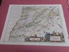 100% ORIGINAL LARGE SOUTH CARRICK SCOTLAND  MAP BY J BLAEU PONT C1646