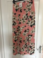 Topshop Floral Split Maxi Skirt Uk10 Brand New