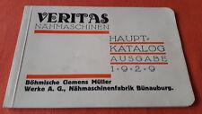 VERITAS Nähmaschinen, Hauptkatalog Ausgabe 1929, Böhmische Clemens Müller Werke