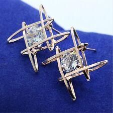 Hot ! Trend Stud Earrings Zircon  Women's Geometric ear nail  Earring Korean