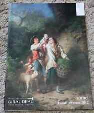 CATALOGUE VENTE 2012 TOURS EXTREME-ORIENT TABLEAUX ANCIENS OBJETS ART MEUBLES