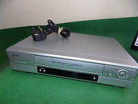 SANYO VHR-H794 Video Cassette Recorder VHS Smart VCR Silver Slim FULLY TESTED