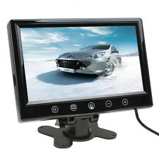 9Inch TFT LCD Color 800 x 480 HD Car Rear View Monitor With 2 Video Input 12V