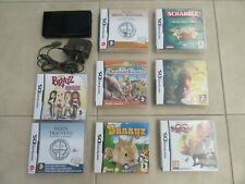 Black Nintendo DS lite Excellent Condition With 8 Games complete