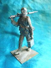 Soldat de plomb - Allemand avec MG42 seconde guerre mondiale à peindre - Lot 2