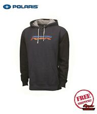 POLARIS MEN'S HOODIE HOODED SWEAT SHIRT NAVY HEATHER PULLOVER RZR NEW