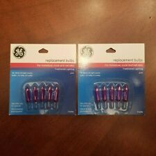 10 NOS Vintage GE Strings Mini Light Replacement Bulbs In Color Pink