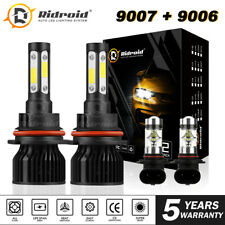 9007+9006 LED Headlight Fog Bulbs Combo for Dodge Ram 1500 2500 3500 2002-2005