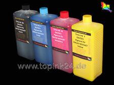 4x 250ml Pigment Tinte GO+ Ink für NovaJet 600 600e 630 700 736 750 850 880 T200