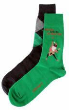 Burlington Mens Christmas 2 Pack Gift Box Socks - Green/Red/Grey