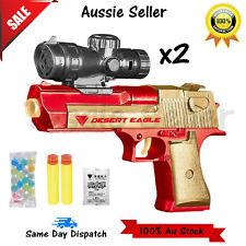 Water Crystal Paintball Gel Soft Bullet Gun Toy Pistol Kids Gift AU XMAS X2