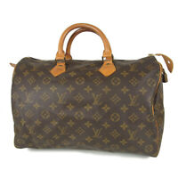 Auth LOUIS VUITTON Vintage M41524 Monogram Speedy 35 Boston Hand Bag 18163bkac