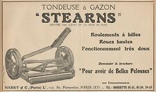 Y7312 Tondeuse à Gazon STEARNS - Pubblicità d'epoca - 1924 Old advertising