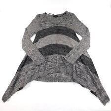 Cupio Womens Shark Bite Knitted V Neck Sweater, Medium M