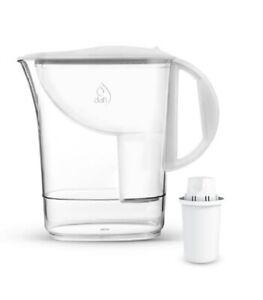 Wasserfilterkanne Dafi Atri mit Filterkanne Tischwasser Filter Kanne 2,4 L Weiß