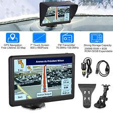 """7"""" Car Truck GPS Navigation 8GB Navigator SAT NAV Free US EU Map Touch Screen FM"""