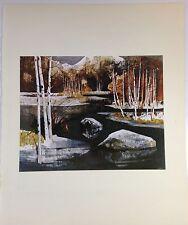 "1970 Vintage ROCKIES Full Color Art Plate ""COLORADO MOUNTAIN"" McIntyre Litho"