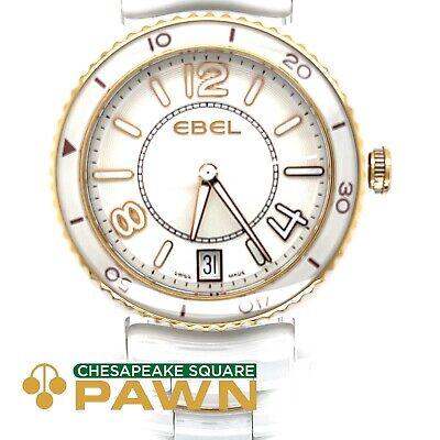 Ebel X-1 White Ceramic& Rose Gold 1216113 Ladies Wristwatch