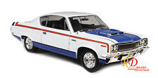 1970 Amc Rebel White With Stripes 1/18 Diecast Model Car By Road Signature 92778