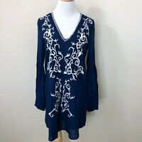 Lulus Womens Dress Size XS Long Bell Sleeve Filagree Embroidered V-Neck Mini