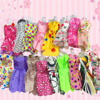 10 pcs  Beautiful Handmade Party Clothes Fashion Dress for  Doll Fashion FH