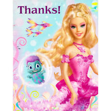 BARBIE FAIRYTOPIA Mermaidia THANK YOU NOTES (8) ~ Birthday Party Supplies Cards