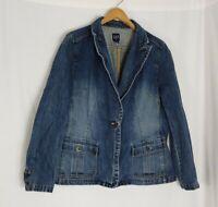 Gap Women's Denim Blue Jean Jacket- Plus Size XXL Button Down