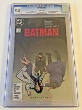BATMAN #404 CGC 9.8 WHITE Pages FRANK MILLER YEAR ONE 1st Modern Catwoman