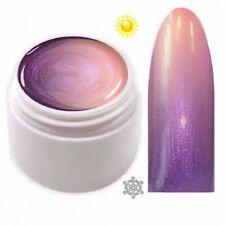 Thermo Farbgel UV Gel Farbwechsel Lila Metallic - Lachs Metallic 5ml TFG-38