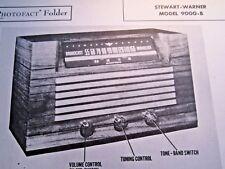 STEWART WARNER 9000-B RADIO RECEIVER PHOTOFACT