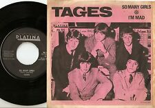 TAGES SO MANY GIRLS & I`M MAD SWEDISH 45+PS 1966 MOD FREAKBEAT PSYCH GARAGE BEAT