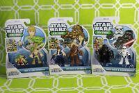 6 Playskool Heroes Star Wars Jedi Force Figures: Chewbacca, Yoda, Darth Vader...