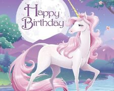 Magical Unicorn Edible Party Cake Image Topper Frosting Icing Sheet