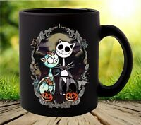 Jack and Sally Cats Pumpkin King Nightmare Before Christmas Coffee Mug