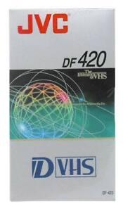 JVC 420min D-VHS (S-VHS) Digital Video Cassette Kassette (DF-420) NEU 003-016