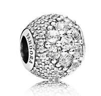 NWT AUTHENTIC PANDORA SILVER CHARM ENCHANTED PAVE CLEAR #797032CZ