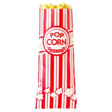 "2000 Case Carnival King 12"" Paper Popcorn Machine Bag 2 Oz Red & White Long"
