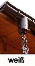 Dachrinnen Regenablaufkette 250cm Ø60mm oder Ø75mm weiß
