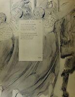 1922 Completo Talla William Blake Grande Estampado Thomas Grays Poema Fatal
