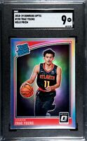 2018-19 Donruss Optic TRAE YOUNG RC HOLO Prizm Silver Rated Rookie - SGC 9 Mint