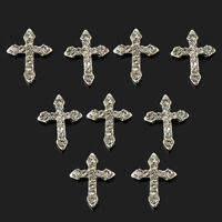 10Pcs 3D Crystal Cross Alloy Rhinestone Tie Nail Art glitter DIY Decorations