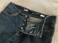 Mens Lee Lo Slim Fit L2 Blue Denim Button Up Fly Smart Casual Jeans 30 Short